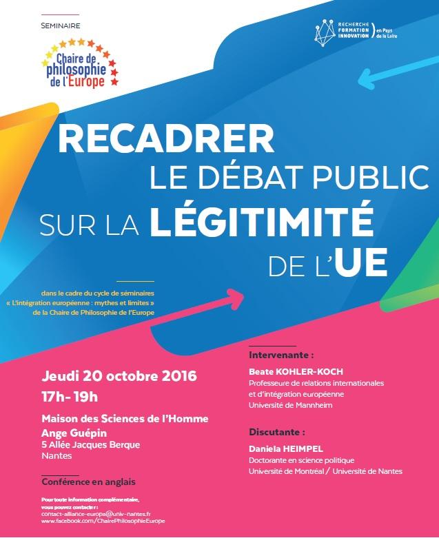 Affiche séminaire Chaire Philosophie octobre 2016